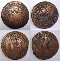 LOT 2 JETONS NUREMBERG KRAUWINCKEL XVIe S. RECHENPFENNIG. PERSEUS, SPES ALTERA - Monetary/Of Necessity