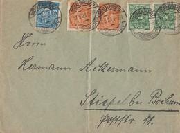DR Brief Mif Minr.2x 232,2x 238,239 Mühlhausen 17.5.23 Gel. Nach Stiepel Bei Bochum - Deutschland