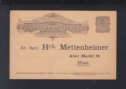 Dt. Reich Privatpost PK Frankfurt A. M. Mettenheimer - Privatpost