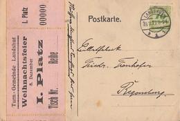 DR Karte EF Minr.328 Landshut 28.11.23 Gel. Nach Regensburg Novemberbeleg - Deutschland