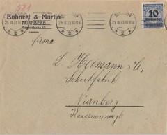 DR Ortsbrief EF Minr.335A Nürnberg 29.11.23 Geprüft - Deutschland