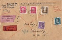 DR R-Wert-Brief Mif Minr.2x 390,392,395,406 Hamburg - Deutschland