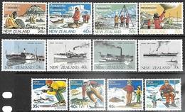 NZ  1984   Sc#791-802 Antarctic Research\Steamships/Skiing Sets  MNH  2016 Scott Value $7.55 - Nouvelle-Zélande