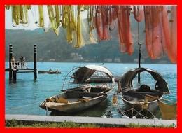 CPSM/gf  LAC DE COME (Italie)  Angolo Pittoresco, Barques Et Filets De Pêche...D316 - Italie
