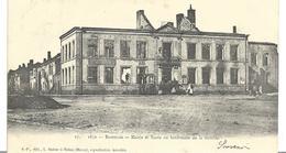 ~ JP ~ 08 ~   1870  ~   BAZEILLES  . Mairie Et écolz Au Lendemain De La Bataille - Otros Municipios