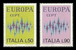 ITALY 1972 STARS COMMUNICATIONS EUROPA OMNIBUS SET MNH - 6. 1946-.. Republic