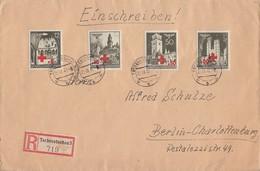 GG R-Brief Mif Minr.52-55 Tschenstochau 25.9.40 - Besetzungen 1938-45