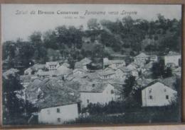 BROSSO CANAVESE , PANORAMA VERSO LEVANTE   - 1908 VIAGGIATA - Altre Città