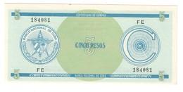 KUBA FX 5 Pesos Serie C UNC - Cuba