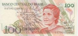 (B0545) BRAZIL, 1989 (ND). 100 Cruzados Novos. P-220b. UNC - Brasile
