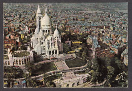 87129/ PARIS, La Basilique Su Sacré-Coeur De Montmartre Et Les Jardins, Vue Aérienne, Pilote-opérateur R. Henrard - Sacré Coeur