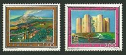 ITALY 1977 EUROPA VIEWS MINERALS VOLCANO MOUNT ETNA MILITARY CASTLE SET MNH - 6. 1946-.. Republic