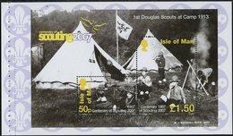 Man Bloc Feuillet 2007 Y&T N°BF65 - Michel N°B59 *** - Scoutisme - Isle Of Man