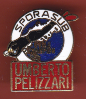 52870-Pin's.umberto Pelizzari.Sporasub.plongée Sous Marine.. - Celebrities