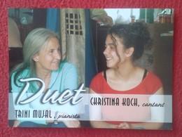 TARJETA TIPO POSTAL POST CARD POSTCARD CARTE POSTALE PUBLICIDAD PUBLICITARIA DUET PIANISTA CANTANTE MÚSICA MUSIC VER FOT - Otros