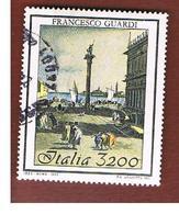 ITALIA REPUBBLICA  - SASS. 2056  -   1993  FRANCESCO GUARDI        -            USATO - 6. 1946-.. Repubblica