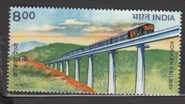 INDIA, 1998,  Completion Of Konkan Railway, Train, Bridge,  MNH, (**) - Inde