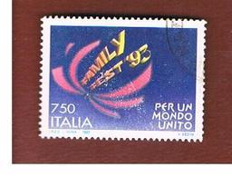 ITALIA REPUBBLICA  - SASS. 2062  -   1993  FAMILYFEST     -            USATO - 6. 1946-.. Repubblica