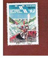 ITALIA REPUBBLICA  - SASS. 2068   -   1993  MONDIALI DI KAYAK     -            USATO - 6. 1946-.. Repubblica