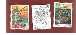 ITALIA REPUBBLICA  - SASS. 2070.2072   -   1993  2^ GUERRA MONDIALE     -            USATO - 6. 1946-.. Repubblica