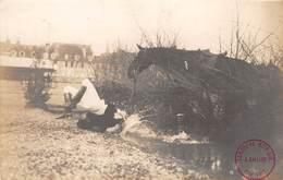 CPA -  64, PAU, Concours Hippique 1911, La Chute - Carte Photo J. Callizo - Pau