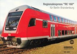 """Regionalexpress """"RE 160"""",Bombardier-Werbekarte,ungelaufen - Trains"""