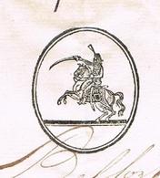 Belfort An 12 – 2.12.1803 Division Militaire  Le Chef De Brigade De France 12e Régiment De Chasseurs à Cheval Héraldique - Documentos Históricos