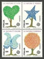 ITALY 1986 EUROPA NATURE TREES SET MNH - 6. 1946-.. Republic