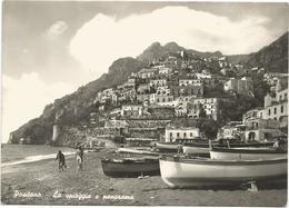 X2494 Positano (Salerno) - La Spiaggia E Panorama / Non Viaggiata - Altre Città