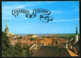 Estonia USSR 1985 Stationery Postcard Tallinn, General View - Estonia
