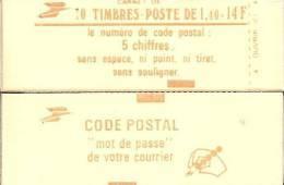 """CARNET 2102-C4 Sabine De Gandon """"CODE POSTAL"""" Fermé. Bas Prix état Parfait Soigné TRES RARE - Carnets"""