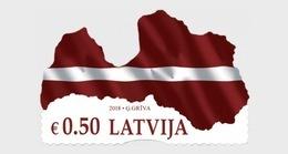 LATVIA , 2018, MNH, FLAGS, MAPS,1v - Stamps