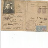 CARTE D IDENTITE 1944 - Old Paper
