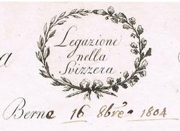 Berne Suisse 16.11.1804 «Membre De L'institut National Italien» Héraldique - Documentos Históricos