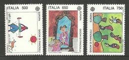 ITALY 1989 EUROPA CHILDREN GAMES ART SPORTS SET MNH - 6. 1946-.. Republic