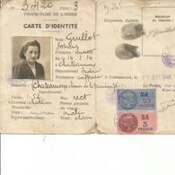 CARTE D IDENTITE 1940 - Old Paper