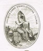Colmar An 13 Société Libre D'émulation Héraldique VIGNETTE - Documentos Históricos