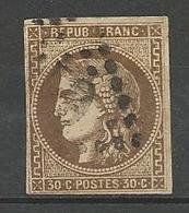 BORDEAUX N° 47  OBL TB Signé CALVES - 1870 Bordeaux Printing