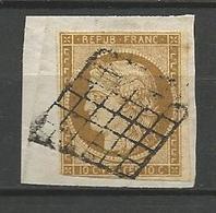 CERES N° 1  OBL SUR FRAGMENT - 1849-1850 Ceres