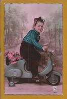 Vélo Motorisé.Motorized Bicycle.Motorisiertes Fahrrad.Vila Alva.Cuba.Alentejo.Stamp 50c,rei D.Afonso II.2sc.Raro.Moto. - Moto & Vélo