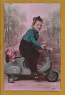 Vélo Motorisé.Motorized Bicycle.Motorisiertes Fahrrad.Vila Alva.Cuba.Alentejo.Stamp 50c,rei D.Afonso II.2sc.Raro.Moto. - Bikes & Mopeds