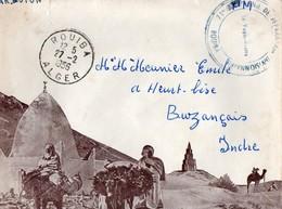 Lettre Koubia. 1956. Enveloppe Illustrée. Cachet 11éme Cie De Réparation Divisionnaire. - Algeria (1924-1962)