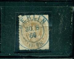 Preussen, Wappen Von Preussen , Nr. 18, Vollstempel Blau Berlin - Preussen