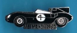 PIN'S //  ** LE MANS / 1957 JAGUAR TYPE D ** PILOTES / Ron FLOCKHART & Ivor BUEB ** - Jaguar
