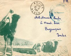 Lettre Koubia. 1956. Enveloppe Illustrée. Cachet 11éme Cie De Réparation Divisionnaire. - Algérie (1924-1962)