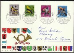 Switzerland Rorschacherberg 1969 / Pro Juventute / Birds - Covers & Documents