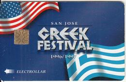 USA - San Jose Greek Festival 1996/1997, St Nicholas Orthodox Church, Electronic Cash Card, Used - Credit Cards (Exp. Date Min. 10 Years)