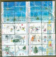 PAYS-BAS 2013 NVPH Nr 3113 - 3132 PUZZLE DE 20 NOEL EN BOTTES DE 100 SÉRIES * 2.000 TEMBRES  CHRISTMAS WEIHNACHTEN SERIE - Periode 1980-... (Beatrix)