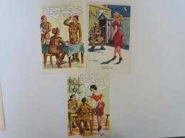 TI - Carte HUMOUR Militaire Et Pin Up - Lot De 5 Cartes - ILLUSTRATEUR JEAN CHAPERON - Humor