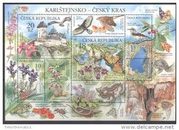 CZECH REPUBLIC ,2013,MNH,FAUNA, MOUNTAINS, REPTILES, INSECTS, SNAKES, FROGS, BUTTERFLIES, BIRDS, FLORA, SHEETLET, NICE! - Reptiles & Amphibians